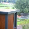 zero maintenance light oak walls used on a Garden Office and Garden Studio
