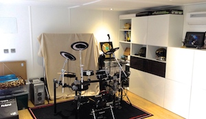 garden studio used for recording and practising music