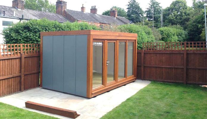 Qcb zero maintenance portable affordable garden office for Oak garden office