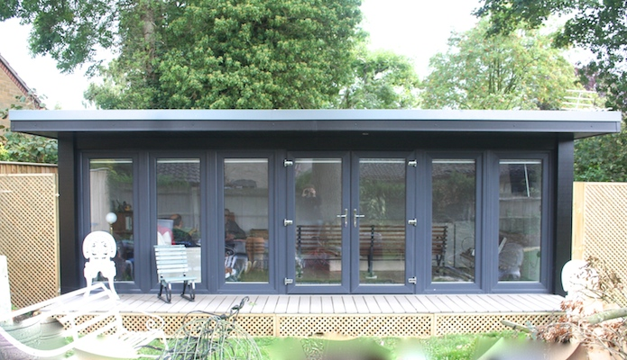 if you have a 6ft flyover roof then it has support posts due to the extended weight and if you have a flyover roof on the side of your studio big garden office ian