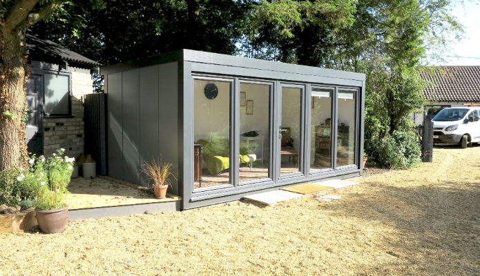 Qcb zero maintenance portable affordable garden office for Portable shed office