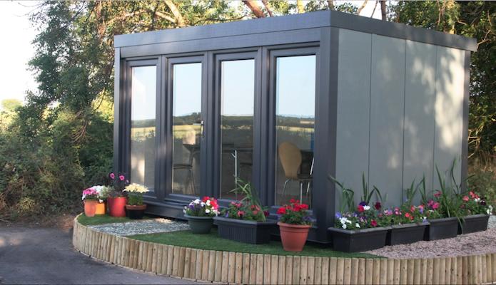 Qcb zero maintenance portable affordable garden office for Insulated garden office