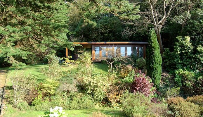 Garden Room overlooking the rolling hills of Snowdonia