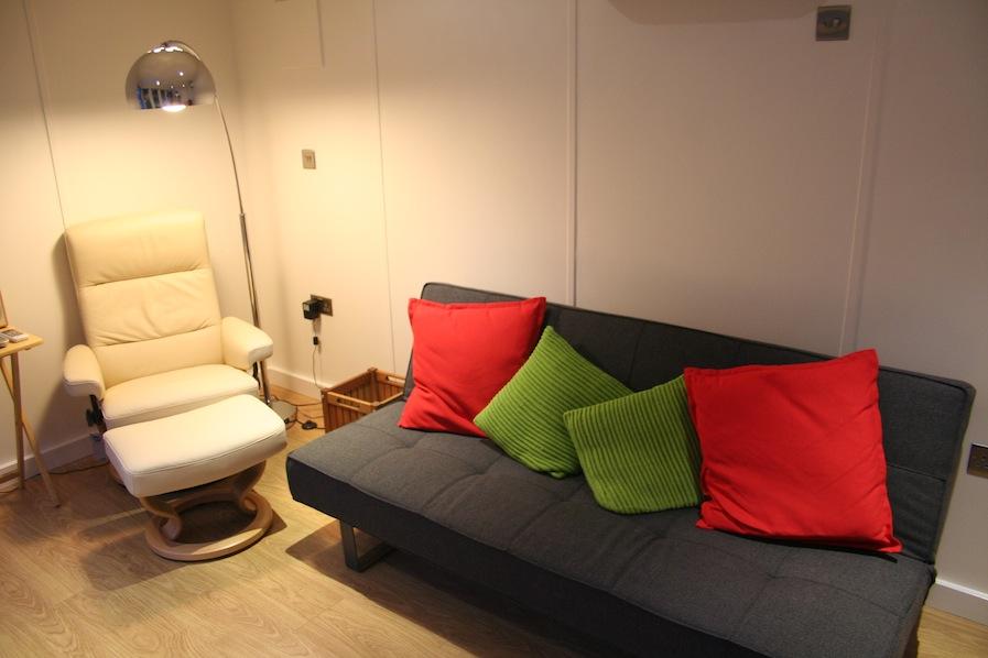 guest bedroom in garden studio