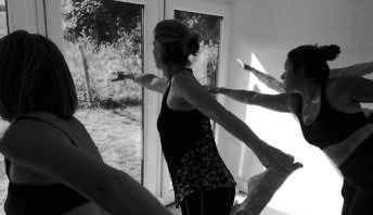 Yoga classes in rented garden studio