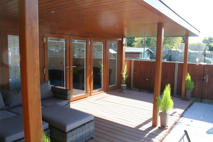 Garden Office Used For Accountancy Family Business