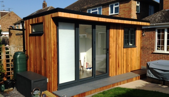 Cedar clad garden office maintenance for Cedar garden office