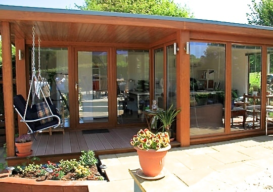 downlights can be installed which look great and mean you socialise well into a warm summers evening big garden office ian