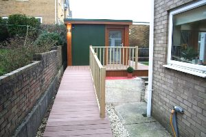Decking Ramp installed for smooth Wheelchair Access