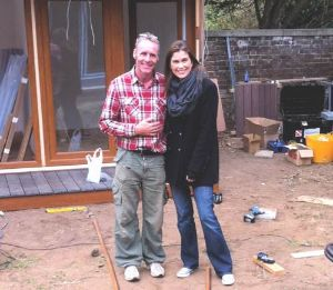 "Alex Booth & Amanda Lamb during Filming for the TV Programme – ""My Flat Pack Home"""