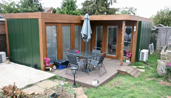 L shape granny annexe installed in luton